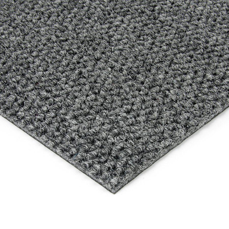 Šedá kobercová vnitřní zátěžová čistící zóna Fiona, FLOMAT - délka 50 cm, šířka 100 cm a výška 1,1 cm