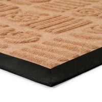Béžová textilní gumová čistící vstupní rohož Flower - Strips, FLOMAT - délka 45 cm, šířka 75 cm a výška 0,8 cm