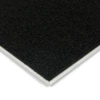 Černá kokosová vstupní zátěžová čistící zóna Synthetic Coco, FLOMAT - délka 150 cm, šířka 200 cm a výška 1 cm
