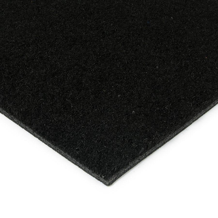 Černá kokosová vstupní zátěžová čistící zóna Synthetic Coco, FLOMAT - délka 100 cm, šířka 100 cm a výška 1 cm