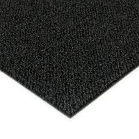 Černá plastová zátěžová venkovní vnitřní vstupní čistící zóna Rita - 200 x 200 x 1 cm