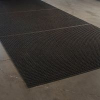 Černá textilní extra odolná zátěžová čistící rohož Lift Truck - délka 115 cm, šířka 180 cm a výška 0,63 cm FLOMAT
