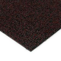 Červená plastová zátěžová venkovní vnitřní vstupní čistící zóna Rita - 50 x 200 x 1 cm