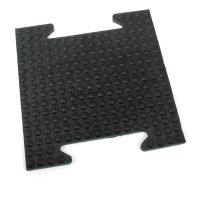 Gumová modulární zátěžová rohož (dlaždice) Horse Tile, FLOMAT - délka 39 cm, šířka 39 cm a výška 2,5 cm