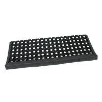 Gumová schodová protiskluzová rohož na hrubé nečistoty Honeycomb Step - 26 x 80 x 1,6 cm
