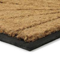 Kokosová čistící venkovní vstupní půlkruhová rohož Sun, FLOMAT - délka 40 cm, šířka 60 cm a výška 1,7 cm