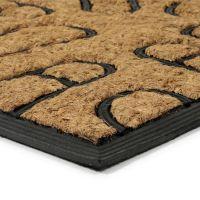 Kokosová čistící venkovní vstupní rohož Rectangle - Traces, FLOMAT - délka 40 cm, šířka 60 cm a výška 0,8 cm