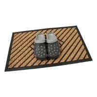 Kokosová čistící venkovní vstupní rohož Rectangle - Stripes, FLOMAT - délka 45 cm, šířka 75 cm a výška 0,8 cm