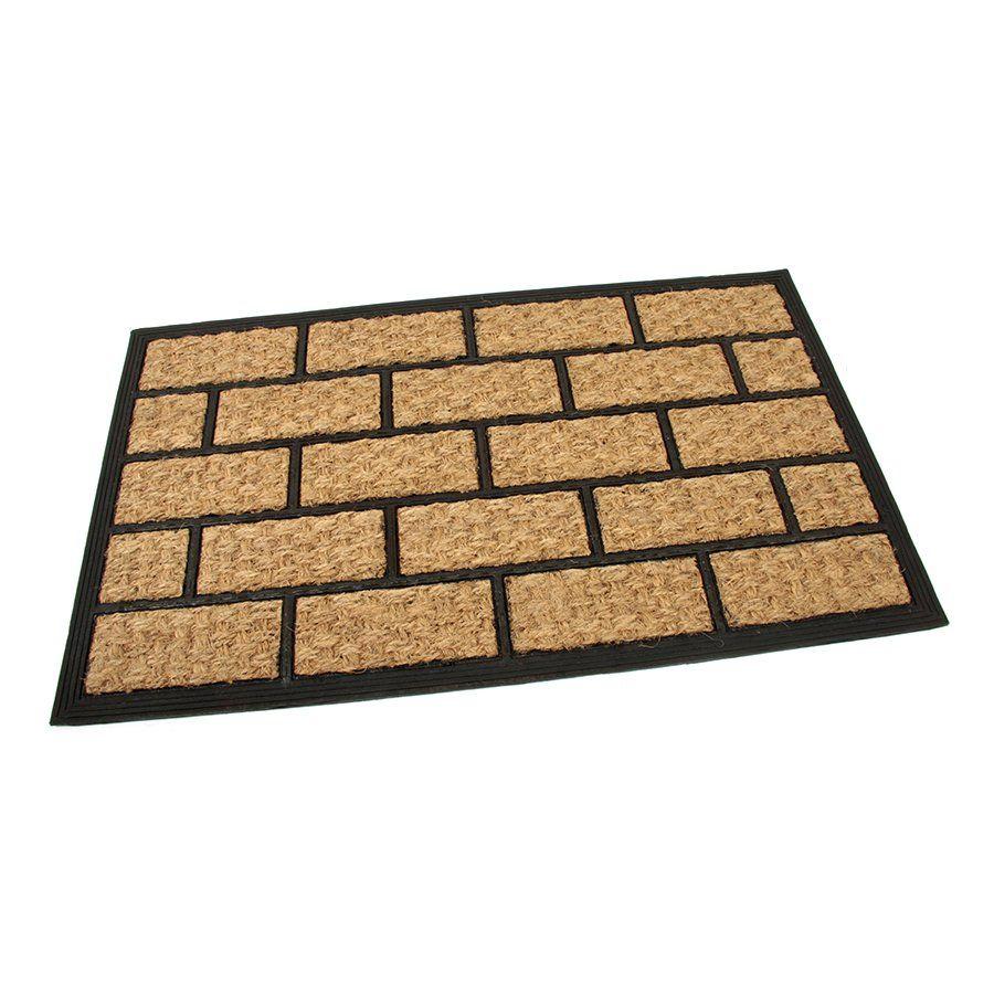 Kokosová čistící venkovní vstupní rohož Rectangle - Bricks, FLOMAT - délka 45 cm, šířka 75 cm a výška 0,8 cm