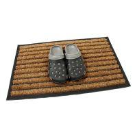 Kokosová čistící venkovní vstupní rohož Stripes, FLOMAT - délka 45 cm, šířka 75 cm a výška 2,2 cm
