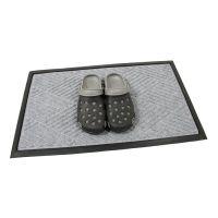 Šedá textilní gumová čistící vstupní rohož Crossing Lines, FLOMAT - délka 45 cm, šířka 75 cm a výška 1 cm