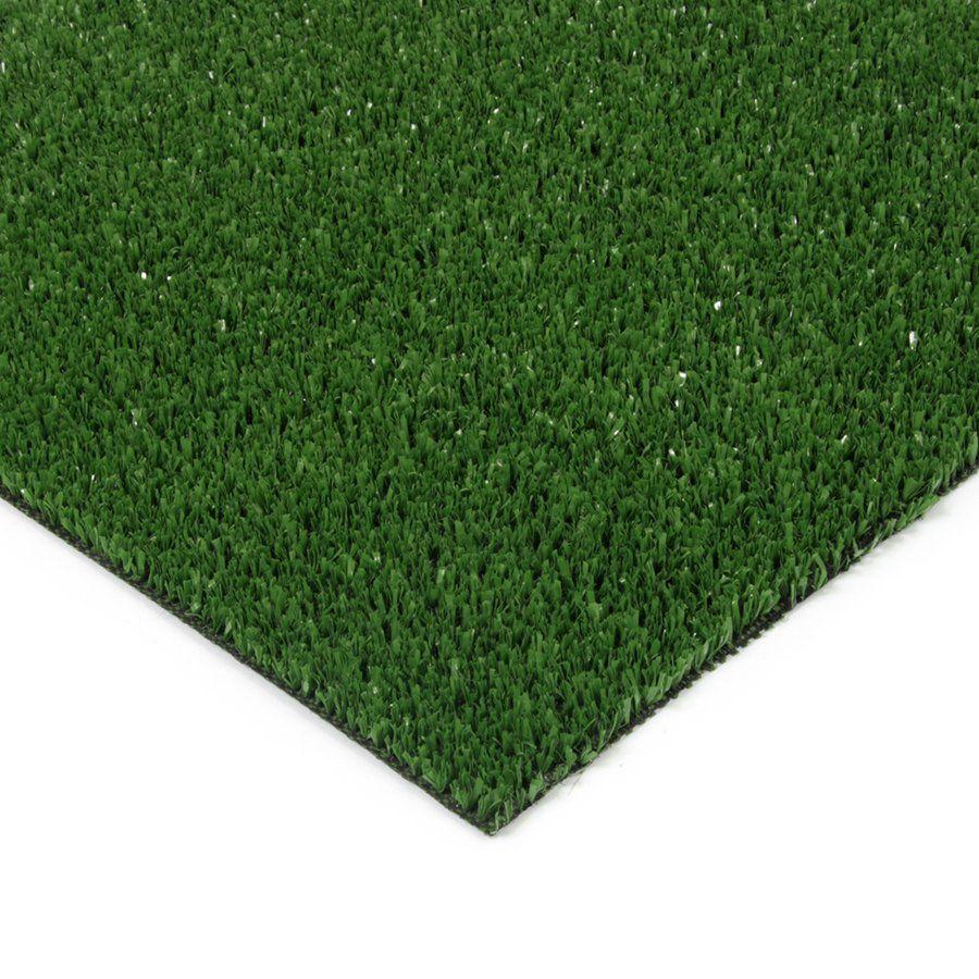 Zelená plastová vnitřní venkovní čistící zóna Grace, FLOMAT - délka 100 cm, šířka 100 cm a výška 0,9 cm