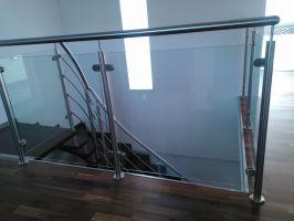 Držák skla HRANATÝ 45x45 plochý