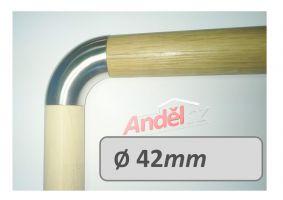 Koleno nerez 25°- 90° pro dřevěná madla