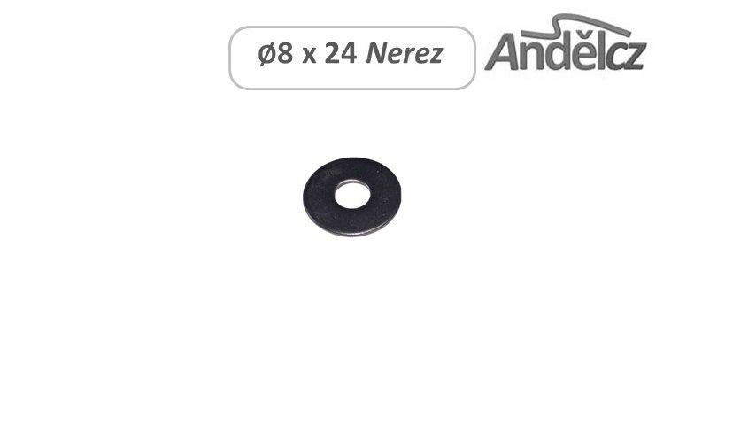 Podložka Ø8 x 24 nerez