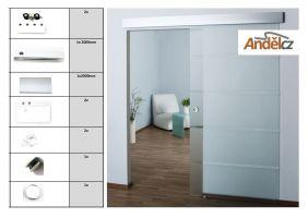 Sada pro posuvné dveře- lišta sklo LS-P8102