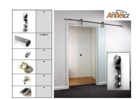 Sada pro posuvné dveře- tyč sklo TS-P9101