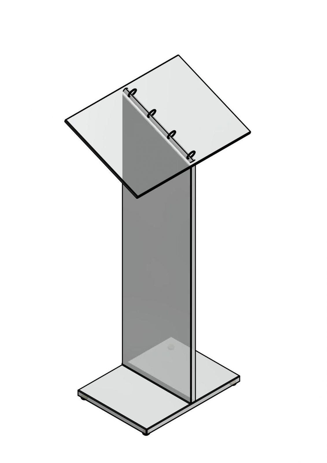 Prezentační stojánek na katalogy- skleněný