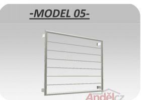 MODEL 05-vodorovná výplň- zábradlí  francouzská okna