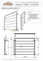 Zábradlí pro francouzská okna MODEL 03- 900 vodorovná výplň