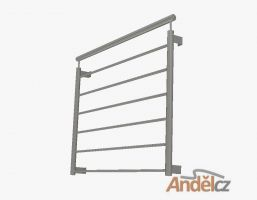 MODEL 03-  vodorovná výplň- Zábradlí pro francouzská okna