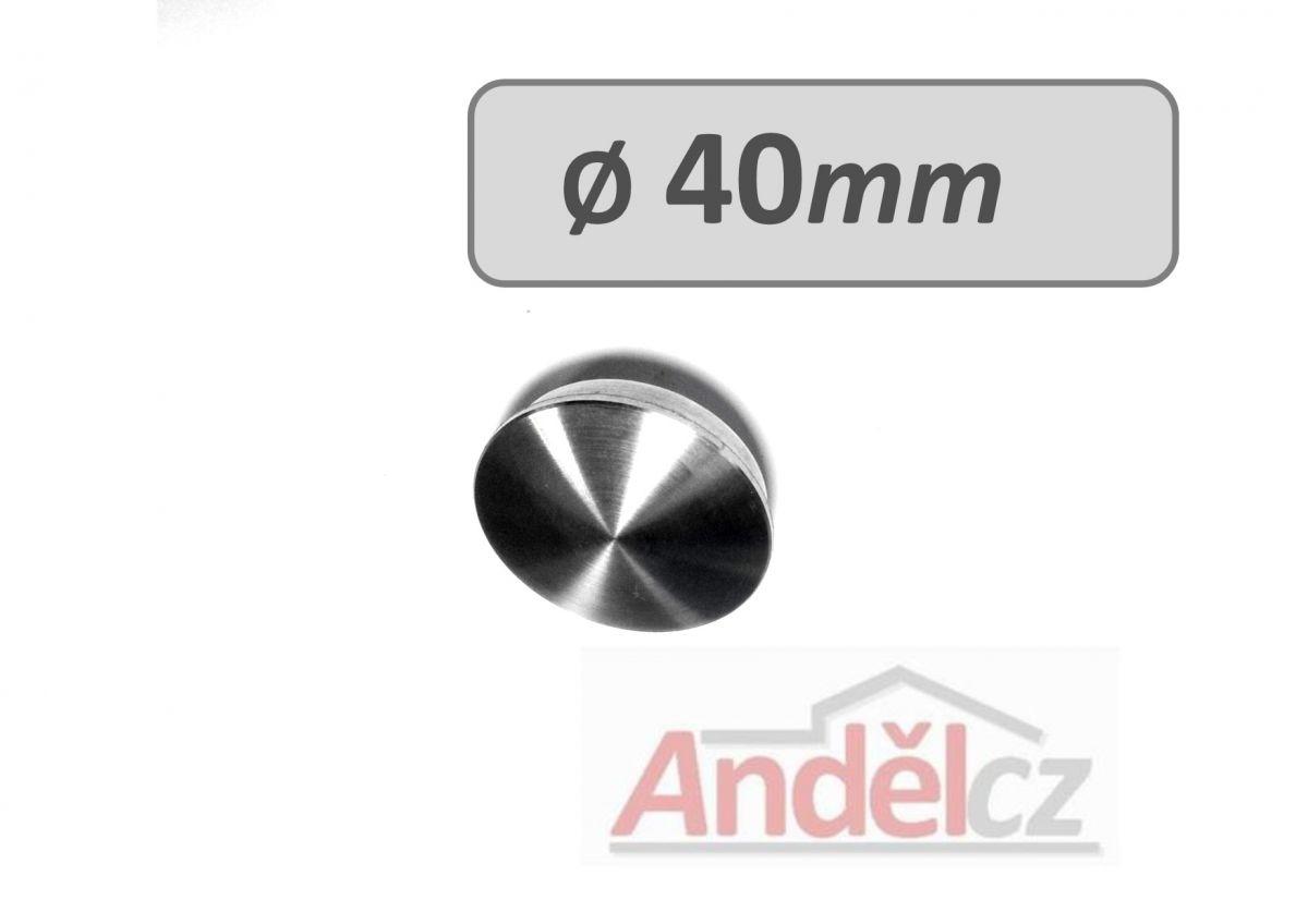 Záslepka na trubku pr. 40mm -koncovka