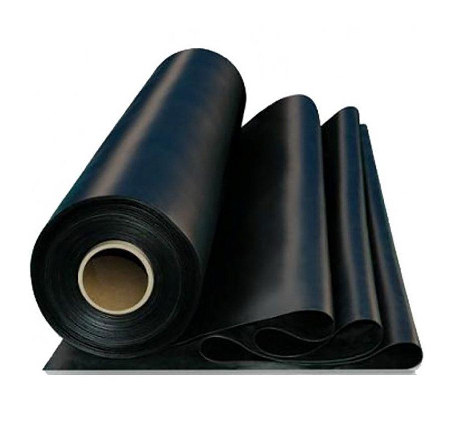 Černá pryžová SBR deska - délka 10 m, šířka 100 cm a výška 0,2 cm FLOMAT