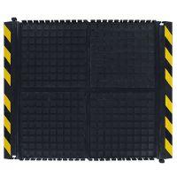 Černo-žlutá podlahová protiúnavová rohož (střed) - délka 91 cm, šířka 111 cm a výška 1,9 cm