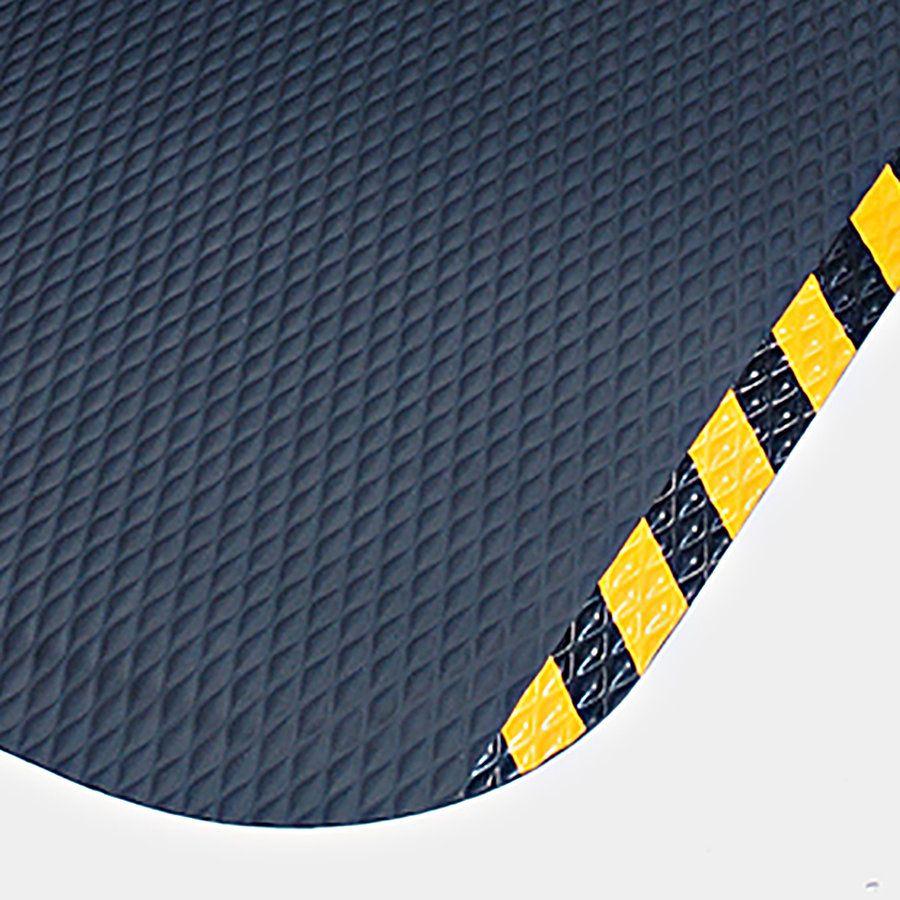 Černo-žlutá protiúnavová protiskluzová rohož - délka 84 cm, šířka 147 cm a výška 2,2 cm FLOMAT