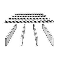 Ocelový pozinkovaný svařovaný podlahový rošt - délka 25 cm, šířka 100 cm a výška 3 cm FLOMAT