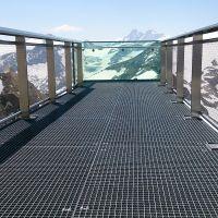 Ocelový pozinkovaný svařovaný podlahový rošt - délka 80 cm, šířka 100 cm a výška 3 cm FLOMAT