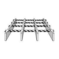Ocelový pozinkovaný svařovaný podlahový rošt - délka 150 cm, šířka 100 cm a výška 3 cm FLOMAT