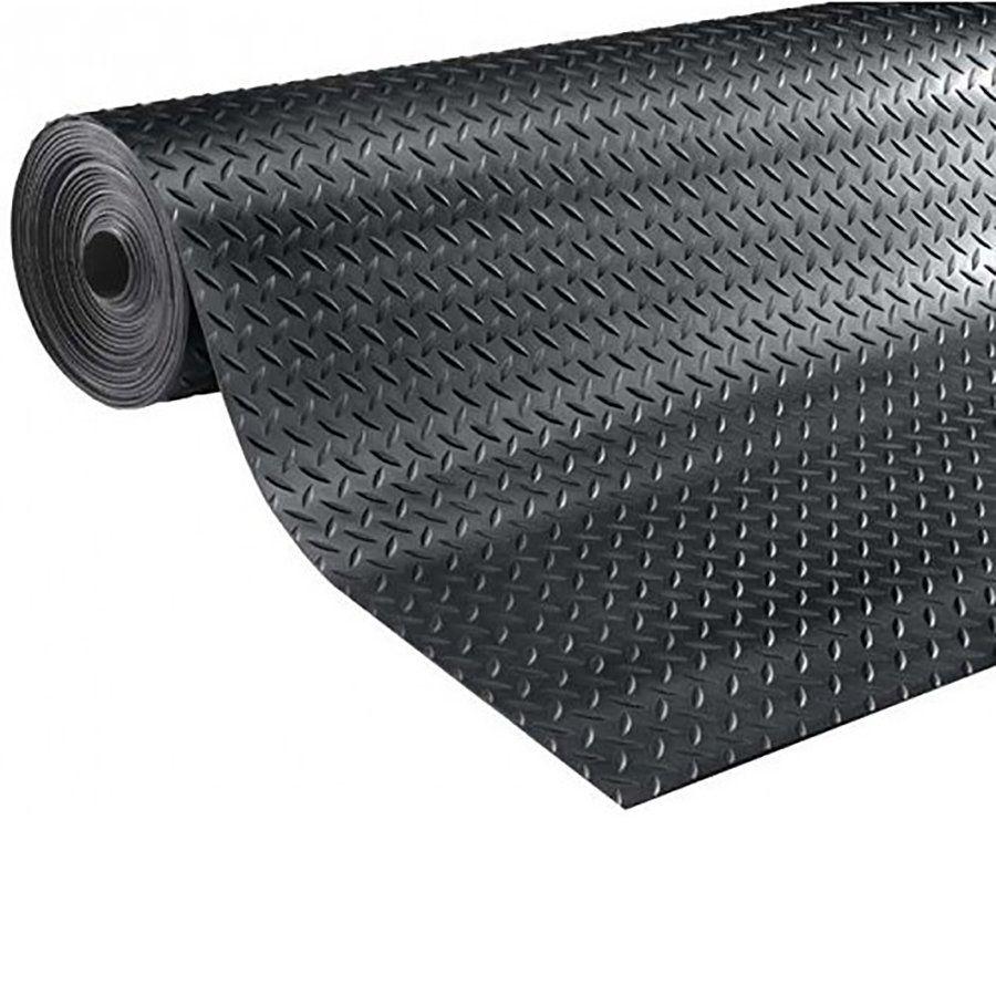 Průmyslová protiskluzová podlahová guma Diamonds - délka 10 m, šířka 125 cm a výška 0,4 cm FLOMAT