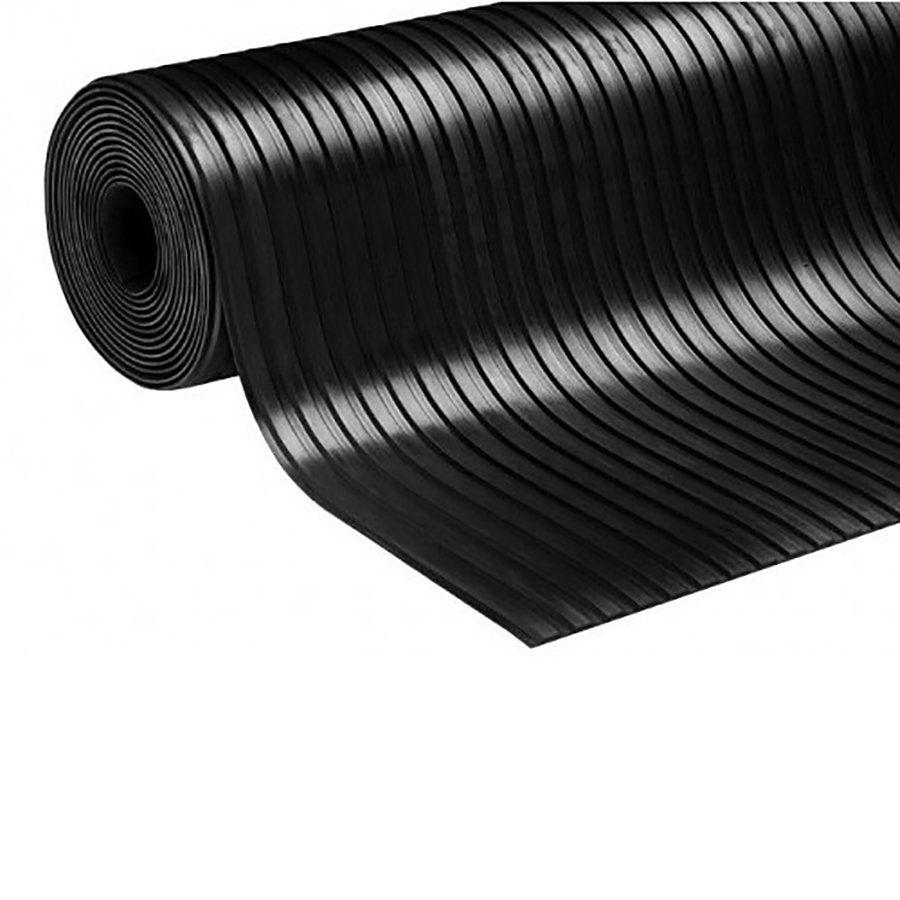 Průmyslová protiskluzová podlahová guma Wide Grooves - délka 10 m, šířka 125 cm a výška 0,4 cm FLOMAT