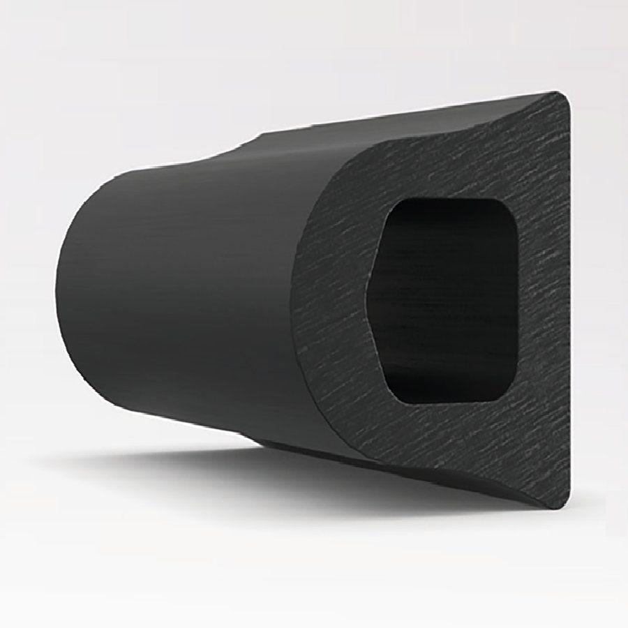 Pryžové nárazové svodidlo na ochranu stěn - délka 300 cm, výška 10 cm a tloušťka 9 cm FLOMAT