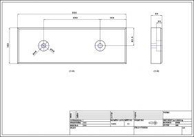 Pryžový obdélníkový doraz - délka 50 cm, šířka 16,5 cm a tloušťka 5 cm FLOMAT