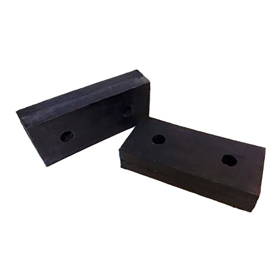 Pryžový obdélníkový doraz - délka 50 cm, šířka 25 cm a tloušťka 8 cm FLOMAT