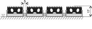 Gumová hliníková venkovní vstupní rohož Alu Standard, FLOMAT - délka 100 cm, šířka 150 cm a výška 1,7 cm