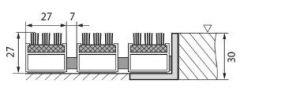 Černá hliníková kartáčová venkovní vstupní rohož Alu Super, FLOMAT - délka 80 cm, šířka 120 cm a výška 2,7 cm