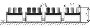 Hnědá hliníková kartáčová venkovní vstupní rohož Alu Super, FLOMAT - délka 60 cm, šířka 90 cm a výška 2,7 cm