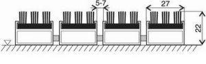 Hnědá hliníková kartáčová venkovní vstupní rohož Alu Super, FLOMAT - délka 60 cm, šířka 90 cm a výška 2,2 cm