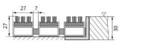 Hnědá hliníková kartáčová venkovní vstupní rohož Alu Super, FLOMAT - délka 80 cm, šířka 120 cm a výška 2,7 cm