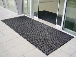 Hliníková gumová vstupní venkovní rohož Alu Wave, FLOMAT - délka 100 cm, šířka 150 cm a výška 2,2 cm