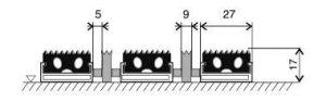 Textilní hliníková kartáčová vnitřní vstupní rohož Alu Extra, FLOMAT - délka 60 cm, šířka 90 cm a výška 1,7 cm