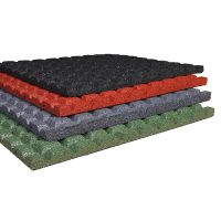 Černá gumová dlaždice (V25/R15) - délka 50 cm, šířka 50 cm a výška 2,5 cm FLOMAT