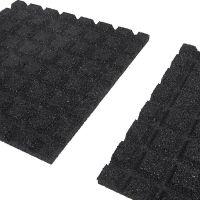 Černá gumová dlaždice (V25/R15) - délka 50 cm, šířka 50 cm a výška 2,5 cm
