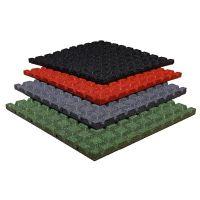 Červená gumová dlaždice (V25/R15) - délka 100 cm, šířka 100 cm a výška 2,5 cm FLOMAT