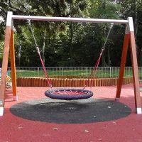 Červená gumová dlaždice (V40/R15) - délka 100 cm, šířka 100 cm a výška 4 cm FLOMAT