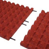 Červená gumová dlaždice (V40/R28) - délka 100 cm, šířka 100 cm a výška 4 cm
