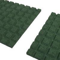 Zelená gumová dlaždice (V25/R15) - délka 100 cm, šířka 100 cm a výška 2,5 cm
